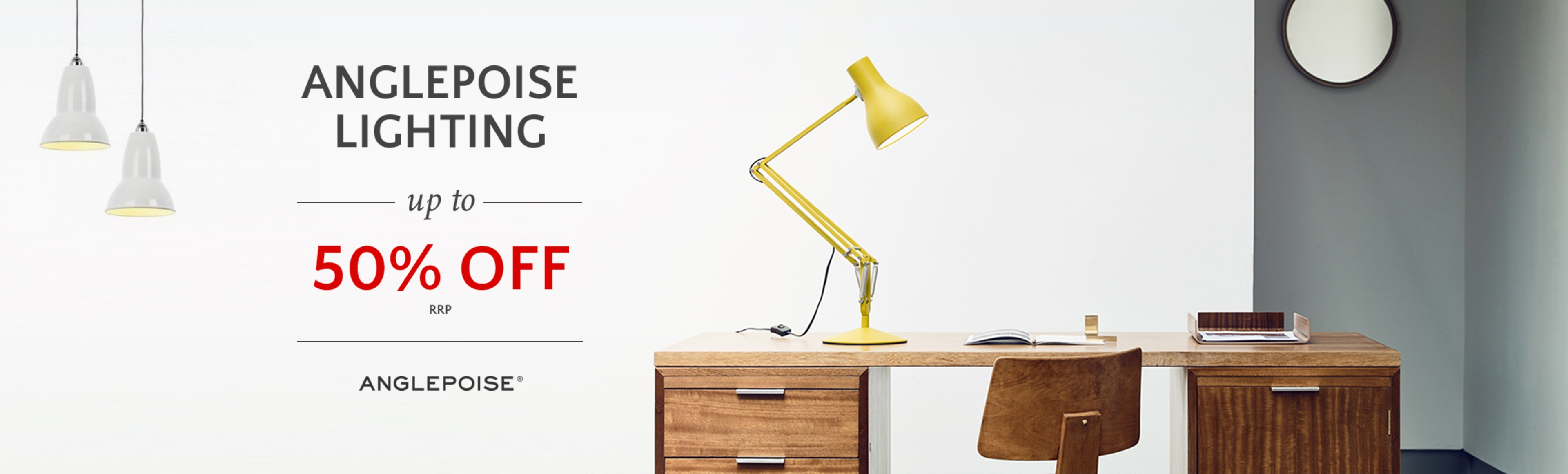 Anglepoise Lighting - up to 50% off RRP