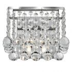 Searchlight 5402-2CC Hanna Chrome And Crystal 2 Light Wall Lamp