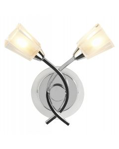 Dar AUS0950 Austin 2 light wall light Chrome