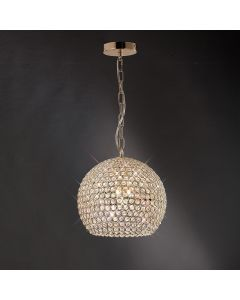 IL30752 Ava 5 Light French Gold Crystal Ceiling Pendant
