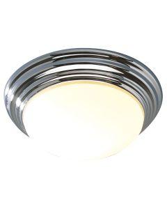 Dar BAR5250 Barclay Small Flush Chrome Bathroom Ceiling Light IP44