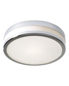 Dar CYR5250 Cyro Small Flush Chrome Bathroom Ceiling Light IP44 Rated