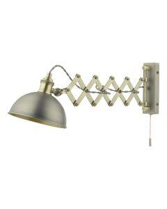 Dar Lighting GOV0761E Governor Extendable Single Spotlight In Antique Chrome And Antique Brass
