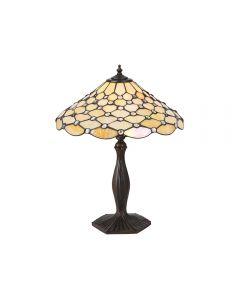 Interiors 1900 64301 Pearl Tiffany Medium Table Lamp - Height: 500mm