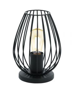 Eglo 49481 Newtown 1 Light Table Lamp In Black