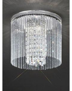 C5724 Large Crystal Flush Ceiling Light