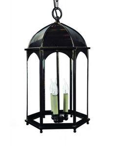 736A Large Solid Brass Duomo 3 Light Hanging Lantern