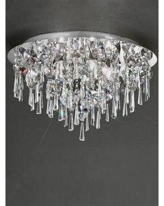 C5720 Round 5 Light Crystal Bathroom Flush Ceiling Light