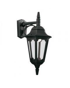 Elstead PR2 BLACK Parish 1 Light Exterior Down Wall Lantern In Black