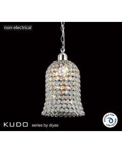 IL60001 Kudo Chrome And Crystal Non-Electric Pendant