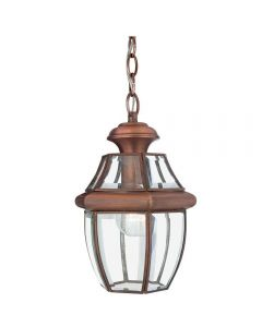 QZ/NEWBURY8/MAC Newbury Medium Outdoor Chain Lantern In Aged Copper