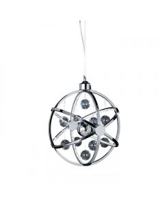 Endon MUNI-CH-L Muni Ceiling Pendant In Chrome Plate With Chrome Glass - Dia: 600mm
