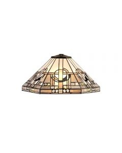 Glasgow Non Electric Ceiling Shade In Grey, White And Black - Dia: 400mm