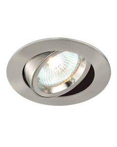 Saxby 52333 Cast Adjustable Recessed Downlight in Satin Nickel Finish