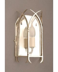 Gothic N732 Solid Brass Nickel Plated 1 Light Wall Lantern