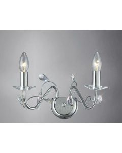 Diyas IL31212 Willow Wall Light in Polished Chrome Finish