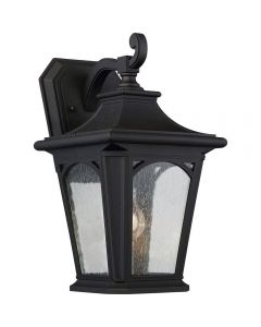 QZ/BEDFORD2/M Bedford 1 Light Medium Wall Lantern Light In Mystic Black