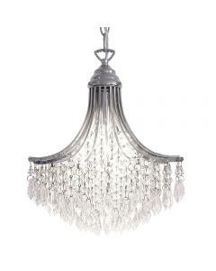Dar SUR0150 Suri 1 Light Crystal Ceiling Pendant Light