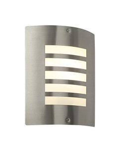 Saxby ST031F Bianco Wall Light in Brushed Stainless Steel