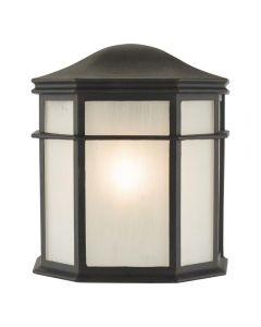 Dar DUL2122 Dulbecco One Light Outdoor Wall Lantern Light In Black With Acrylic Panels
