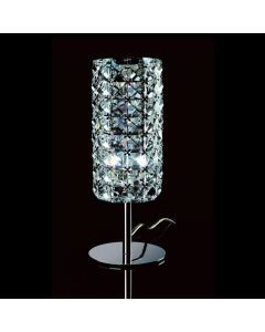Impex CFH211151/TL/CLR/CH Veta One Light Table Lamp In Chrome