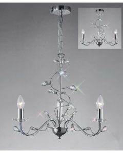 Diyas IL31213 Willow Ceiling Pendant Light in Polished Chrome