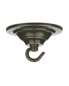 Dar ACC7 Antique Brass Hook Plate