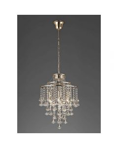 Diyas IL32771 Inina 4 Light Ceiling Pendant In French Gold