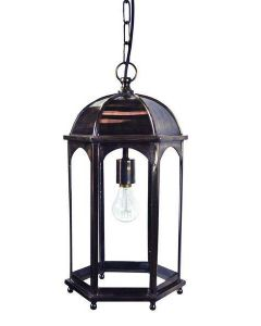 736B Medium Solid Brass Duomo 1 Light Hanging Lantern