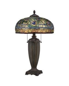 QZ/LYNCH/TL Lynch Tiffany Bronze 2 Light Desk Lamp