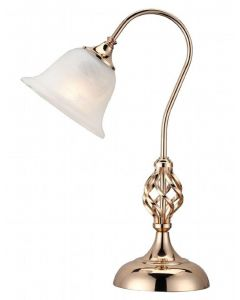 Classic 1 Light Swan Neck Table Lamp In French Gold