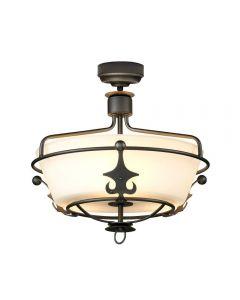 Elstead WINDSOR/SFGR Windsor 3 Light Semi Flush/Pendant In Graphite