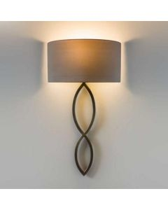 Astro 1349010, 5026001Caserta Wall Light in Bronze with White Shade