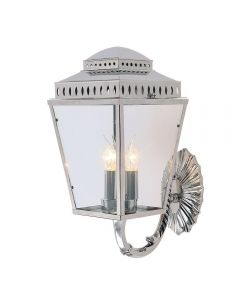 Elstead MANSIONHS/WB1 PN Mansion House 3 Light Wall Lantern Light In Polished Nickel