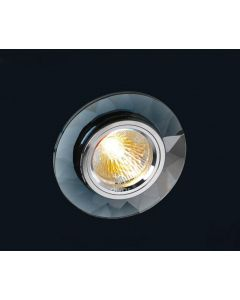 Diyas IL30816BL Black Crystal Recessed Chamfered Round Downlight Fascia