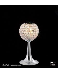 IL30193 Ava 2 Light Chrome And Crystal Table Lamp