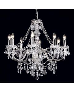 Endon 308-8CL 8 Light Chandelier In Clear Acrylic