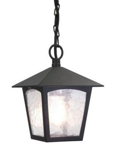 Elstead BL6B York exterior, black hanging porch lantern, IP20