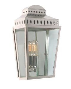 Mansion House Outdoor Lantern, Polished Nickel