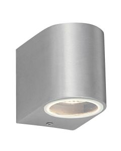 Saxby 43655 Doron Single Outdoor Wall Light in Brushed Alloy Finish