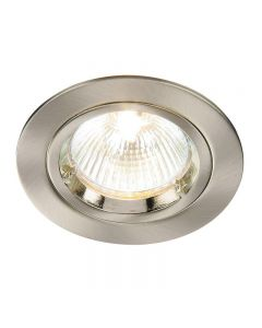Saxby 52330 Cast Fixed Recessed Downlight in Satin Nickel Finish