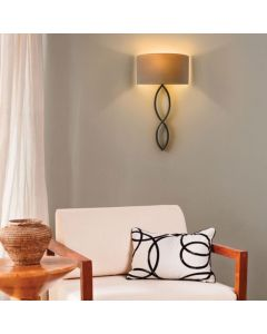 Astro 1349001 +5026003  Caserta Modern Wall Light in Chrome with Oyster Shade