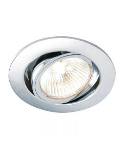 Saxby 52332 Cast Adjustable Recessed Downlight in Chrome Finish