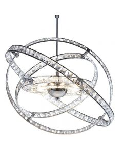 Dar ETE2350 Eternity 10 Light Modern Crystal Ceiling Pendant