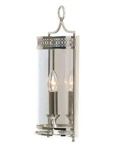 Elstead GH/WB Guildhall Polished Nickel Period Wall Lantern