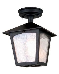 Elstead BL6A York exterior, black, flush porch lantern, IP23