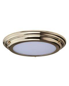 Elstead WELLAND/F PB Welland Medium Bathroom Flush Ceiling Light In Polished Brass