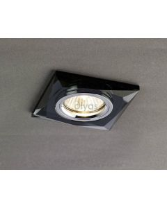 Diyas IL30812BL Black Crystal Recessed Chamfered Square Downlight Fascia