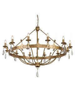 Elstead WINDSOR12 Windsor 12 Light Ceiling Chandelier Light In Gold Patina