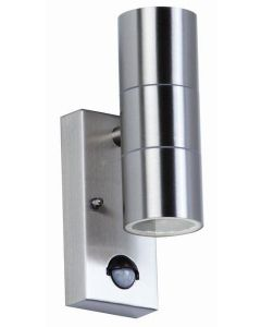 Endon EL-40062 Outdoor Stainless Steel Sensor Double Wall Light